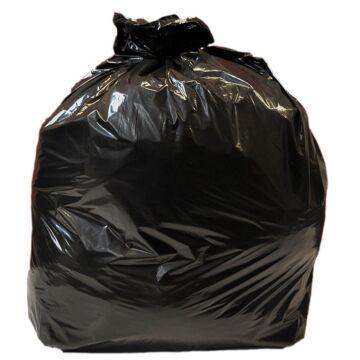Jantex middelzware kwaliteit vuilniszakken 10kg zwart (10 zakken op een rol)