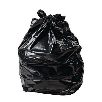 Jantex zware kwaliteit vuilniszakken zwart - 200 stuks