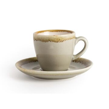 Olympia Kiln espressoschotels mosgroen 11,5cm (Box 6)