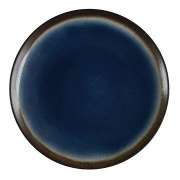Olympia Nomi ronde tapascoupeborden blauw-zwart 25,5cm, 4 stuks