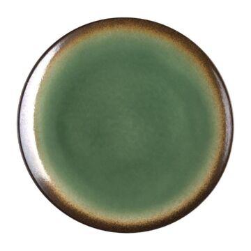 Olympia Nomi ronde tapascoupeborden groen-zwart 25,5cm, 4 stuks