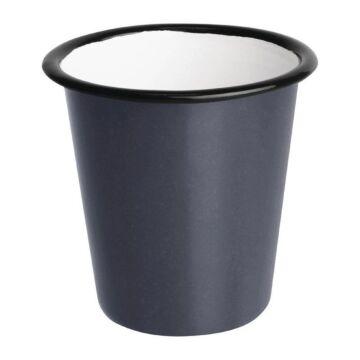 Olympia Emaille beker grijs 31cl, 6 stuks