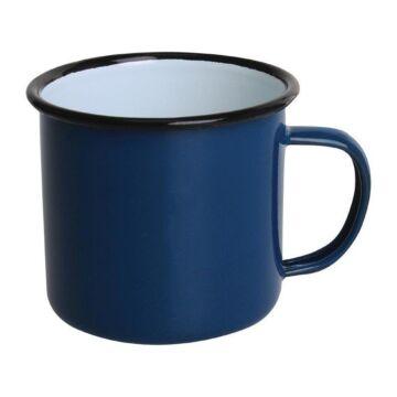 Olympia Emaille mok blauw 35cl, 6 stuks