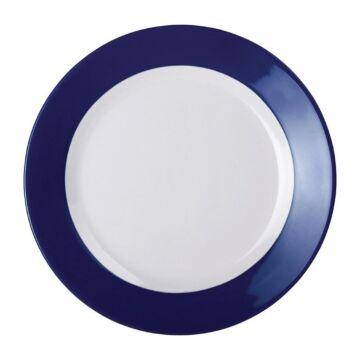 Kristallon Gala melamine bord met blauwe rand 19,5cm, 6 stuks
