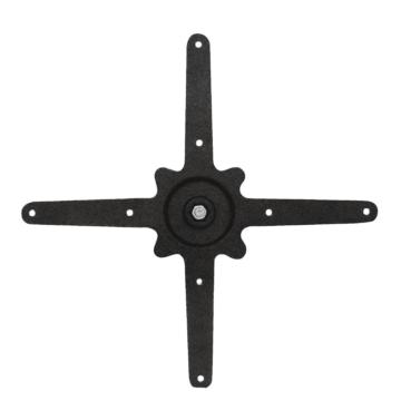 Bolero 4-benige gietijzeren tafelpoot, 72(h) x 48(l) x 48(b)cm