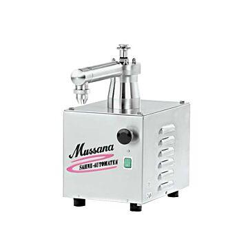 Slagroommachine Mussana Mini, geen opslag directe aanzuiging