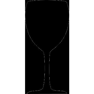 Wandkrijtbord Securit, Wijnglas, incl. 1 krijtstift dun wit