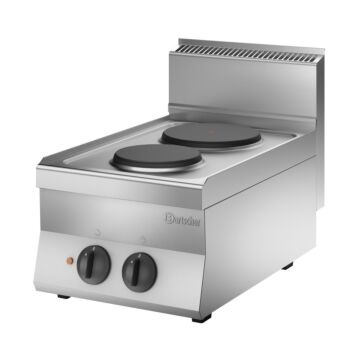 Kooktoestel Bartscher, 2 pits, 40(b)x29,5(h)x65(d)cm, 400V/4,1kW