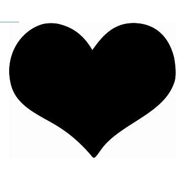 Wandkrijtbord Securit, Hart vorm, incl. 1 krijtstift dun wit