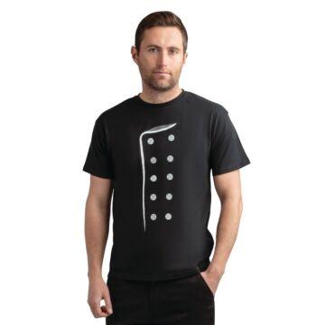 Chef print t-shirt zwart L