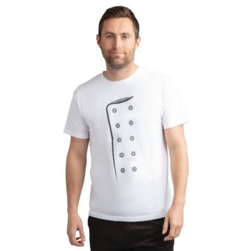 Chef print t-shirt wit L