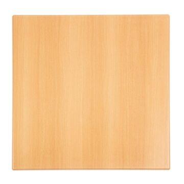 Bolero vierkant tafelblad beuken 60cm, 3(h) x 60(b) x 60(d)cm