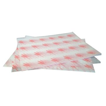 Vetvrij hamburger papier, rood of blauw, 1000 stuks