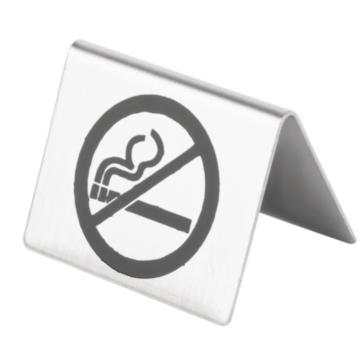 Tafelbordje Olympia, verboden te roken RVS