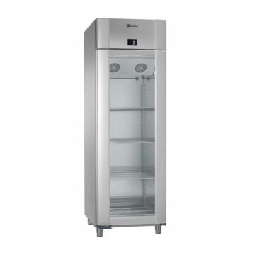 Glasdeur koelkast Gram ECO Plus, KG 70 CAG L2 4N, rvs/Alu. 2/1, 610L, 70x91x213(H), 230V/248W