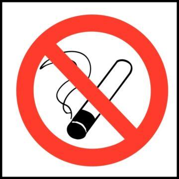 Verboden te roken sticker Vogue, 10(b)x10(h)cm