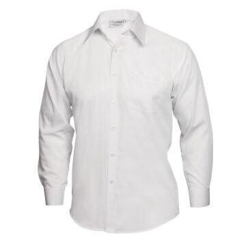 UniformWorks Unisex Overhemd, Wit (Poly/Ktn.)