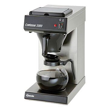 Koffiezetapparaat Bartscher, 7 min/volle kan, CNS, 1.8L, 22(b)x46(h)x39(d), 230V/2000W