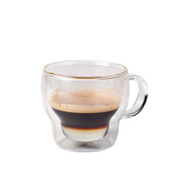 Koffie-theeglas dubbelwandig 230 ml, doos van 6 stuks