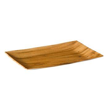 Houtnerf bord rechthoekig 34,5 x 22 cm, doos van 8 stuks