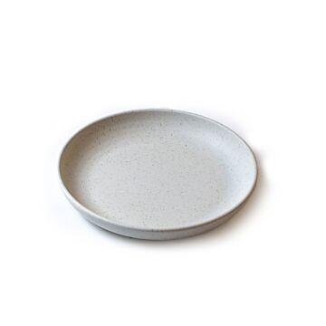 Pebble cream organisch diep bord 21,5 cm, doos van 6 stuks