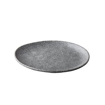 Pebble grey organisch Bord 26,5 cm, doos van 12 stuks