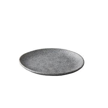 Pebble grey organisch bord 23 cm, doos van 12 stuks