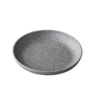 Pebble grey organisch diep bord 21,5 cm, doos van 6 stuks
