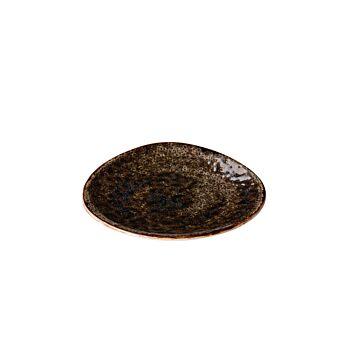 Jersey bord driehoek bruin 21 cm, doos van 6 stuks