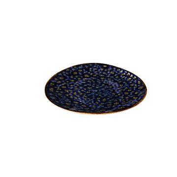 Jersey bord driehoek blauw 17 cm, doos van 6 stuks