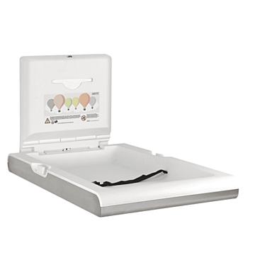 Babyverschoontafel Mediclinics,  CP0016VCS, Wandmontage, verticaal RVS, Inclusief dispenser