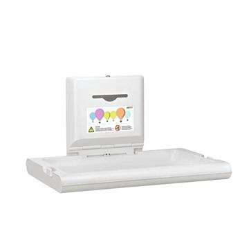 Babyverschoontafel Mediclinics,  CP0016HCS, Wandmontage, horizontaal RVS, Inclusief dispenser