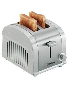 Bartscher Toaster TS20, 2 sneetjes, edelstaal