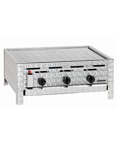 Grillplaat Bartscher, gas, 3-pits, PO, tafelmodel, 65(b)x27(h)x57(d), 11kW