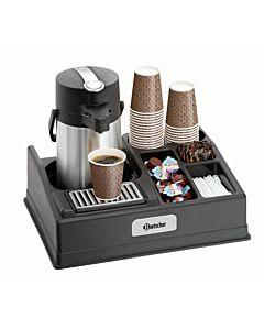Koffiestation Bartscher, voor thermoskannen tot een diameter van 19 cm