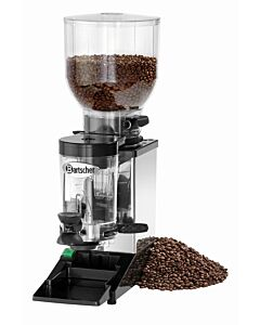 Koffiemolen Bartscher, 5-12gr dosering, RVS, 0.6 kg, 20(b)x60(h)x39(d), 230V/352W
