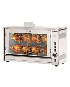 Kippengrill Bartscher, gas, voor 8 kippen, 2 spiesen, 87,8(b)x58,4(h)x50(d)cm
