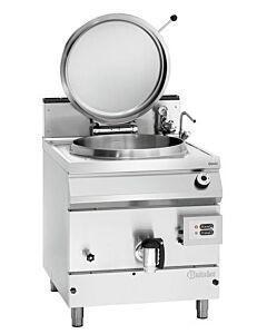 Kookketel Bartscher, gas, 135L, gecontr. W.niv, 80(b)x90/95(h)x90(d)cm, gas: 21kW