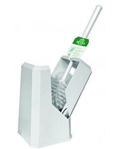 Toiletborstelhouder Papernet,  ABS kunststof, geslotenmodel, met borstel en randreiniger