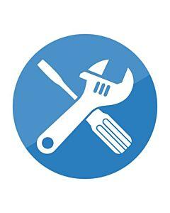 Standaard installatiepakket Heteluchtoven gas, totaalprijs incl. benodigdheden, plaatsing en installatie