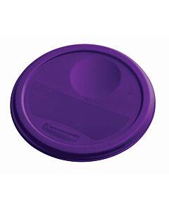 Deksel voor ronde container 3,8 ltr Allergenen, Rubbermaid, model: VB 232363, 12 stuks per verpakking, paars