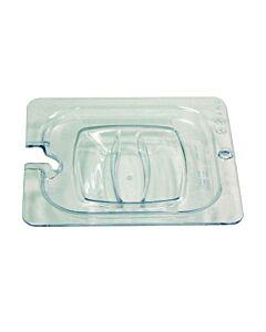 Harde deksel met uitsparing voor gastronorm 1/6, Rubbermaid, model: VB 000108P-86, 6 stuks per verpakking, transparant