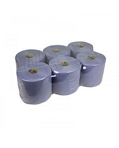 Poetsrol T300 neutraal 9kg blauw 1lgs 20cm, 6x1 rollen