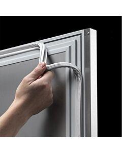 Glasdeur koelkast Gram ECO Plus, KG 70 RAG L2 4N, Silver/Rvs 2/1, 610L, 70x91x213(H), 230V/248W
