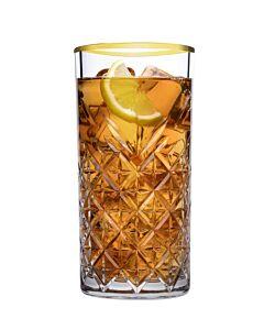 Timeless longdrinkglas gouden rand 300 ml, doos van 4 stuks