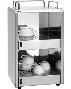 Kopjeswarmer Saro, RVS, 48 kopjes, 32(b)x55(h)x32(d), 230V/1400W