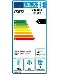 Koelkast Saro, Basic, 130L, 60(b)x85(h)x60(d), 230V/120W