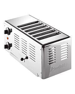 Broodrooster rvs 6 d Rowlett, H22 x B20 x L43, 230V / 3300W
