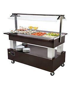 Gekoeld buffet - SB40F, H150 x B86 x L141, 230V / 500W