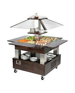 Buffet/salad-bar 4x1/1GN, H154 x B104 x L104, 230V / 500W